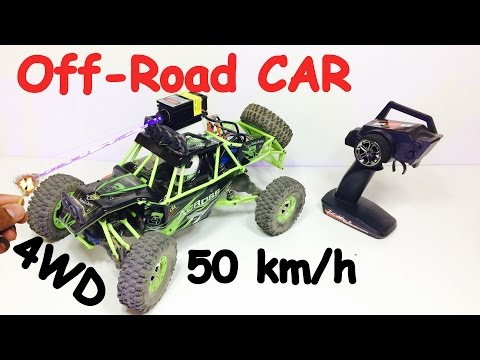 Off Road RC CAR 50 km/h speed 4 wheel drive 1/12 scale