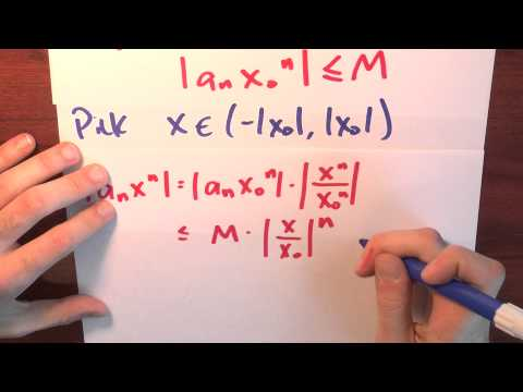 Why does a power series converge absolutely? - Week 5 - Lecture 2 - Sequences and Series