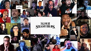 Live reaction to Super Smash Bros teaser for Nintendo Switch (20+ Youtubers Compilation)