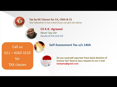 Self Assessment Tax explained in a super simple manner with charts and diagrams