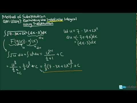 Calculus I: How to find Indefinite Integral Using Substitution (Easy Lvl Question)