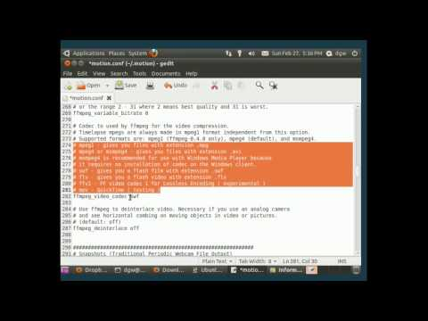 How to use your webcam as a security camera with Ubuntu linux - part 1
