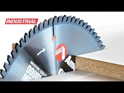 Review of Amana Tool Industrial Double-Sided Melamine Cutting Saw Blade with ElectroBlu Coating
