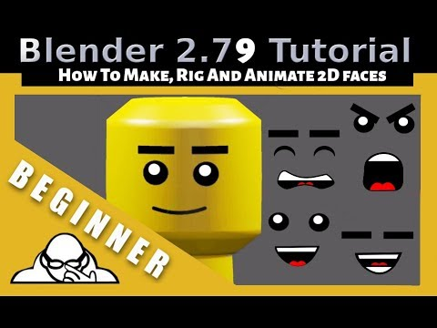 How To Make Animate And Rig 2D Faces In Blender 2.79