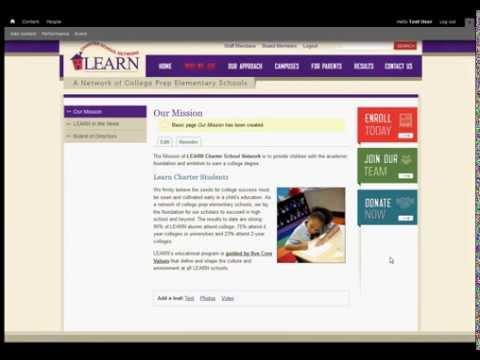 Web Content Management System Demo