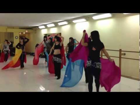 Chicago Chinese bellydance club class sample