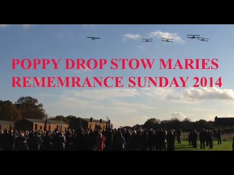 CRHnews   Poppies dropped over Stow Maries by Tiger Club biplanes