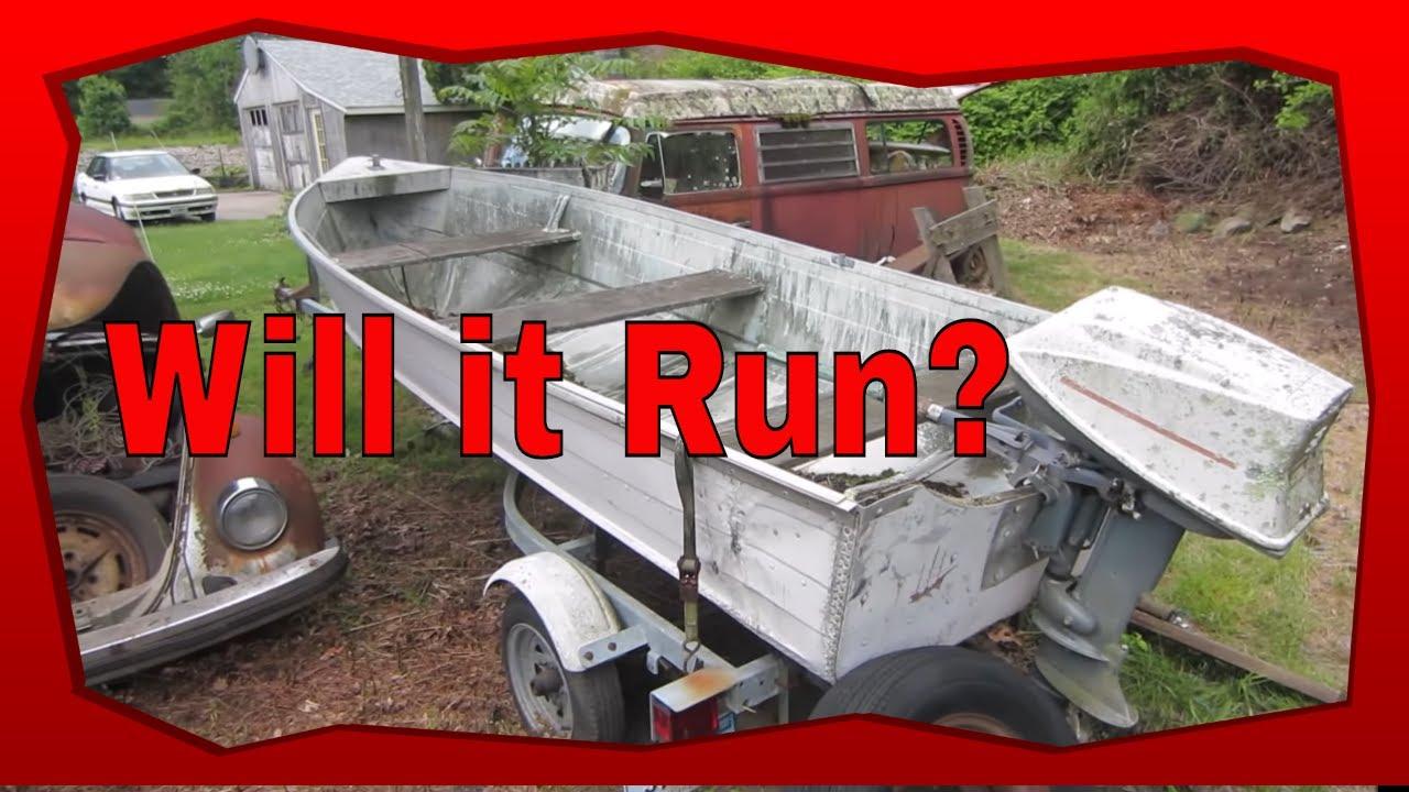 Free Boat and Motor. Sitting 20 Years, Will it Still Run?