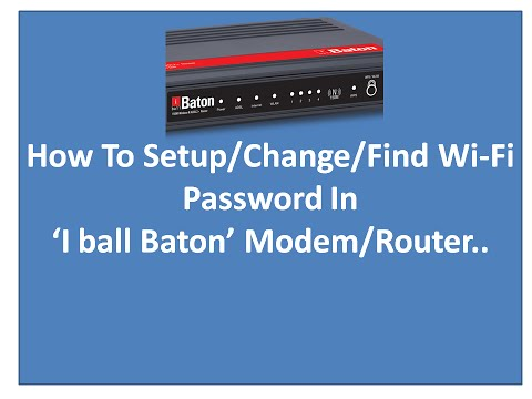 How To Setup OR Change(Find) WiFi Password In Router/Modem(Wi-Fi Configuration,  'iBall baton 150')