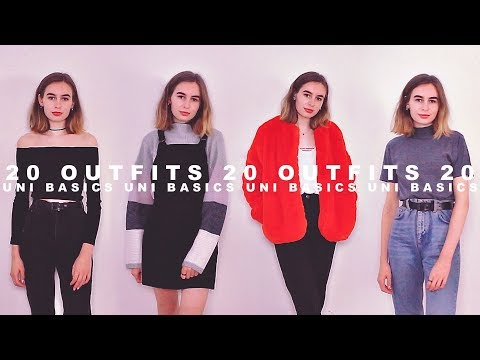 My Uni Fashion Basics : 20 Outfits | Katie Joslin