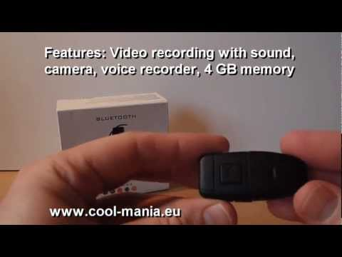 Spy camera in Bluetooth earpiece + 4GB memory