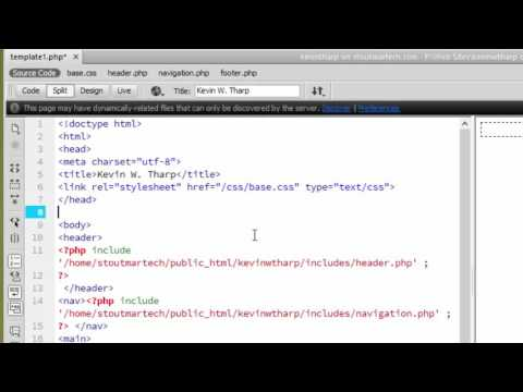 PHP Template Finishing Up - Adding external stylesheets, and using root relative urls for links and