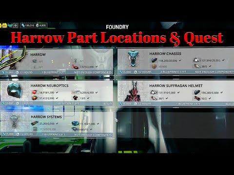 Warframe Harrow Part Locations & Quest