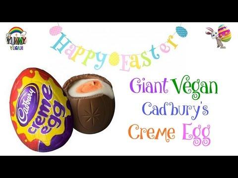 Giant Vegan Cadbury Creme Egg   YUMMY VEGAN