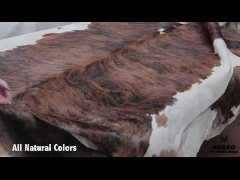 Rodeo Cowhide Rugs - Brindle Brazilian Collection