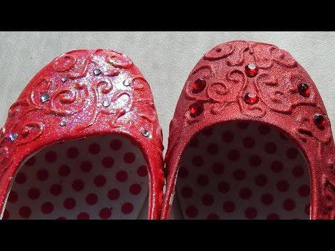 DIY Costume Dorothy's Ruby Red Slippers Two Ways Cosplay