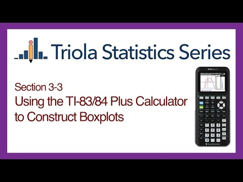 TI 83/84 Section 3-3: Using the TI-83/84 to Construct Boxplots