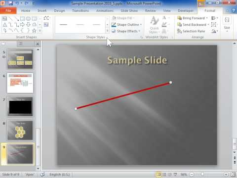 PowerPoint 2010 Make a Line Dashed