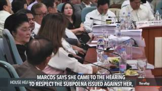 Imee Marcos shows up at House probe
