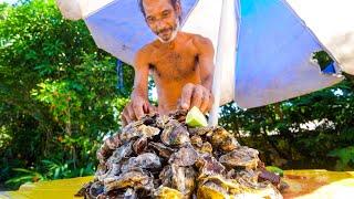 Rio's OYSTER MAN + Brazilian Seafood Claypot Fish in Rio de Janeiro, Brazil!