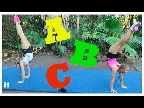 ABC Acro & Gymnastics Challenge! | The Rybka Twins