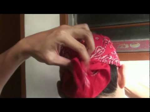 Bandana: How to fold and tie as headwear