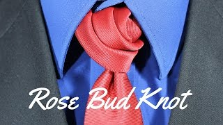 How To Tie A Tie Rose Bud Knot