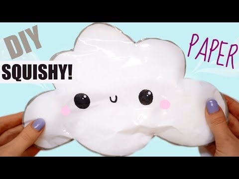 DIY PAPER CLOUD SQUISHY   how to make a squishy without foam #11