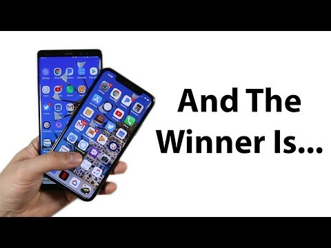 iPhone X vs Note 8 speed test!