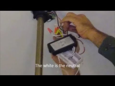 Replace A  Bad Ceiling Fan Remote Control With Universal Remote Control - Step By Step