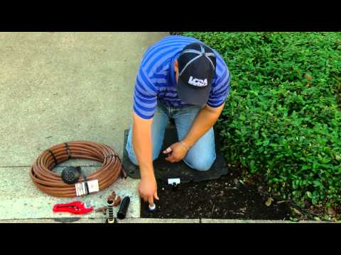 Change your sprinkler system to drip irrigation in a few easy steps