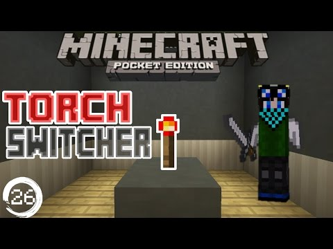 Minecraft Pocket Edition Redstone Tutorial: How to build a Redstone Torch Switcher/key in Mcpe 15.0+