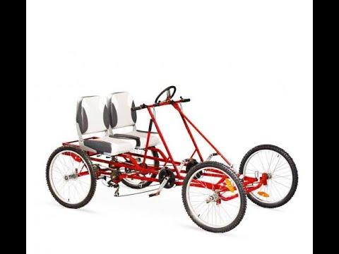 Quadracycle 21 Speed 4 Wheel Pedal Bikes