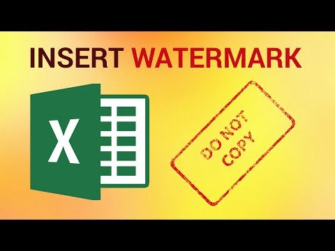 How to Insert a Watermark in Excel 2016