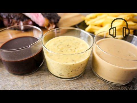 3 French Steak Sauce #ASMR フレンチステーキソース3選