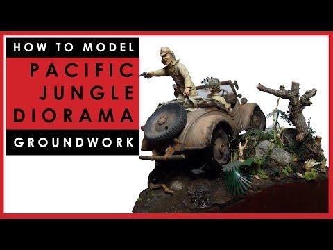 How to make a scale model WW2 Pacific jungle diorama base
