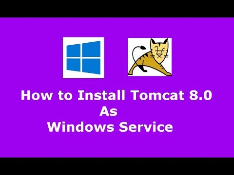 How to install Apache Tomcat 8.0.45 as Windows service and Uninstall