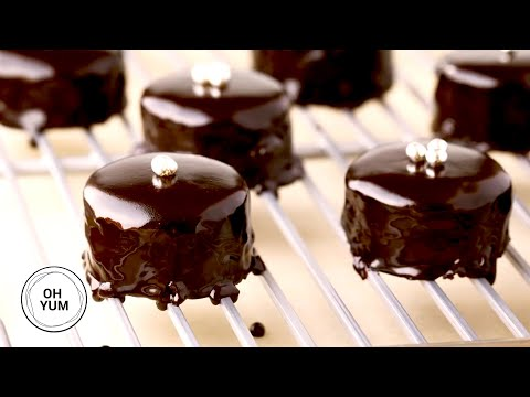 Chocolate Glazed Petit Fours   Oh Yum with Anna Olson