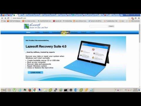 lazesoft password recovery iso
