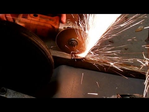 Making new wheelbarrow handles.