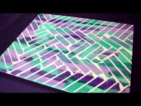 DIY Painter's Tape Canvas Art