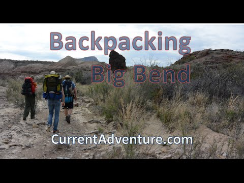 Off-trail desert backpacking -- Backpacking Big Bend, Part 1