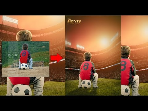 Football dreamer   photoshop tutorial   photoshop manipulation  Monty Edits  Monty Photography 