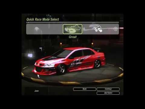 NFSU2 - Mitsubishi Lancer [Fast and Furious]
