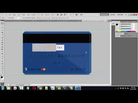 Credit Card Template Tutorial Photoshop