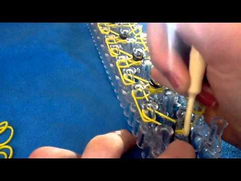 how to make a diamond rainbow loom bracelet (DIY)