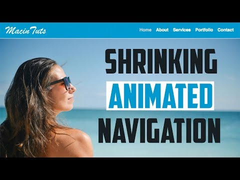 Animated Shrinking Navigation Menu Tutorial with HTML, CSS and jQuery