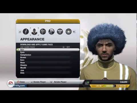 How To Get The Giant Afro On Fifa 13 Pro Clubs! *GLITCH*