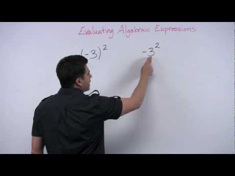 Evaluating Expressions: Negative Numbers to powers