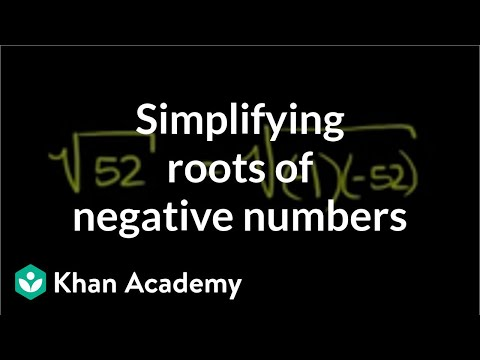Imaginary roots of negative numbers | Imaginary and complex numbers | Precalculus | Khan Academy